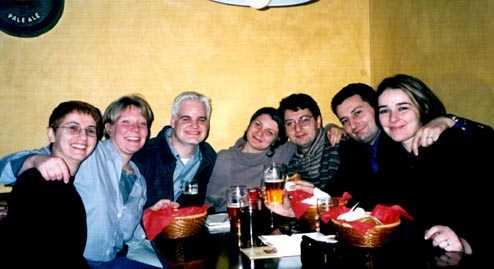 Tania Maffucci, Meg, me, Cinzia Gervasi, Michele Maffucci, Antonio Maffucci and Michela Russo at Gulliver Pub