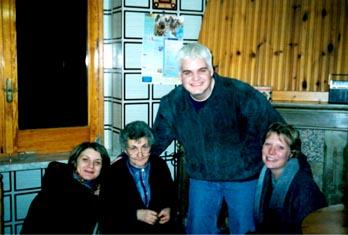 Cinzia, Margherita, me and Meg