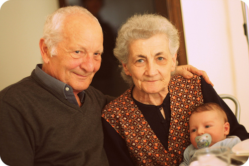 Vito Michele Gervasi, Margherita Zarrilli and their first grandchild, Francesco