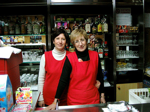 Antonietta and Giovanna Gallucci, owners of Bar Corso on Via Corso.  They're the sisters of Angela Gallucci, mother of the Maffucci's.